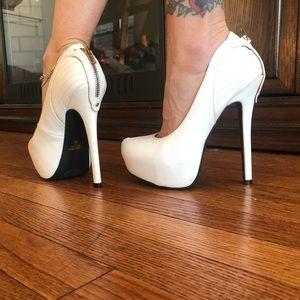 White Charlotte Russe platform heel